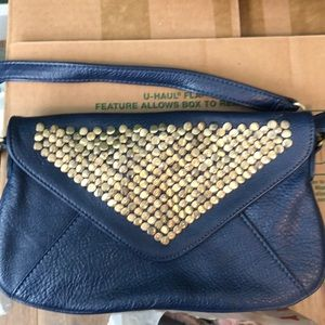 Navy clutch/cross body